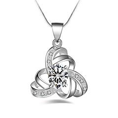 preiswerte Halsketten-Damen Dicke Kette Anhängerketten - Diamantimitate Blume Klassisch, Modisch Silber 45 cm Modische Halsketten 1pc Für Alltag