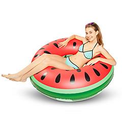 abordables Flotadores-Sandía Colchonetas inflables para piscina PVC Duradero, Inflable Natación / Deportes acuáticos para Adultos 120*120*30 cm