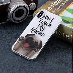 Недорогие Кейсы для iPhone-Кейс для Назначение Apple iPhone X / iPhone 8 IMD / С узором Кейс на заднюю панель С собакой Мягкий ТПУ для iPhone X / iPhone 8 Pluss / iPhone 8