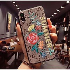 Недорогие Кейсы для iPhone 7-Кейс для Назначение Apple iPhone X / iPhone 8 С узором Кейс на заднюю панель Цветы Мягкий ТПУ для iPhone X / iPhone 8 Pluss / iPhone 8