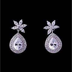 preiswerte Ohrringe-Damen Kubikzirkonia Stilvoll Ohrstecker - Tropfen Modisch, Elegant Weiß Für Hochzeit / Party