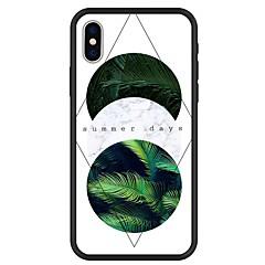 Недорогие Кейсы для iPhone 7 Plus-Кейс для Назначение Apple iPhone X / iPhone 8 Plus С узором Кейс на заднюю панель Растения / Слова / выражения / Геометрический рисунок Твердый Акрил для iPhone X / iPhone 8 Pluss / iPhone 8