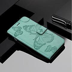 Недорогие Кейсы для iPhone 7 Plus-Кейс для Назначение Apple iPhone X / iPhone 8 Кошелек / Бумажник для карт / со стендом Чехол Бабочка Твердый Кожа PU для iPhone X / iPhone 8 Pluss / iPhone 8