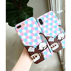 Недорогие Кейсы для iPhone 7 Plus-Кейс для Назначение Apple iPhone X / iPhone 6 С узором Кейс на заднюю панель Кот / Геометрический рисунок Твердый ПК для iPhone X / iPhone 8 Pluss / iPhone 8