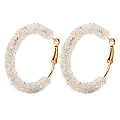 preiswerte Ohrringe-Damen Kristall Retro Kreolen Ohrring - Donuts Retro, Punk, Elegant Weiß / Schwarz / Dunkelblau Für Party / Abend Klub