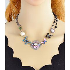 abordables Collares-Mujer Hebra Única Collares Declaración - Flor Simple, Moda Arco Iris 44.2 cm Gargantillas 1pc Para Fiesta / Noche, Escuela