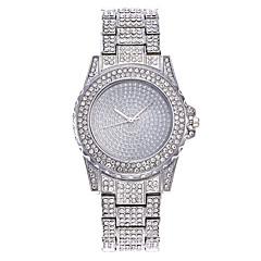 preiswerte Damenuhren-Damen Armbanduhr Chinesisch Armbanduhren für den Alltag / Imitation Diamant / Großes Ziffernblatt Legierung Band Glanz / Modisch Silber / Gold / Rotgold