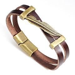 preiswerte Armbänder-Herrn Retro Vintage Armbänder - Blattform Punk Armbänder Schwarz / Kaffee / Braun Für Geschenk / Strasse