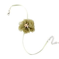 preiswerte Halsketten-Damen Stilvoll Halsketten - Spitze Blume Süß, Modisch, Elegant Leicht Grün 38 cm Modische Halsketten Schmuck 1pc Für Normal, Alltag