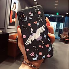 Недорогие Кейсы для iPhone 7-Кейс для Назначение Apple iPhone X / iPhone 8 С узором Кейс на заднюю панель Фламинго Мягкий ТПУ для iPhone X / iPhone 8 Pluss / iPhone 8