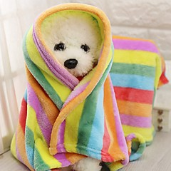 cheap Dog Supplies & Grooming-Portable / Mini / Keep Warm Dog Clothes Bed / Towel Color Block / Patchwork Rainbow Rodents / Dogs / Cats