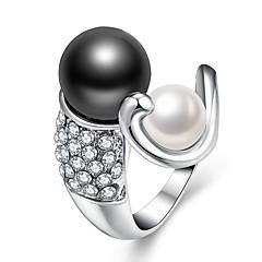 voordelige Ringen-Dames Zoetwaterparel mismatched Open Ring - Verguld Dames, Modieus Sieraden Wit Voor Lahja Dagelijks Verstelbaar