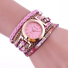 お買い得  レディース腕時計-女性用 ブレスレットウォッチ 中国 カジュアルウォッチ PU バンド ファッション ブラック / 白 / ブルー