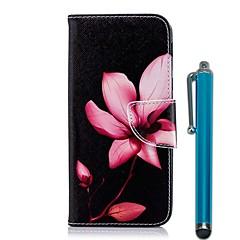 Недорогие Чехлы и кейсы для Nokia-Кейс для Назначение Nokia Nokia 5.1 / Nokia 3.1 Кошелек / Бумажник для карт / со стендом Чехол Цветы Твердый Кожа PU для Nokia 8 / Nokia 6 2018 / Nokia 5.1
