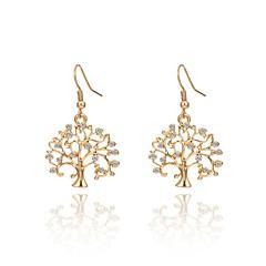 preiswerte Ohrringe-Damen Hohl Tropfen-Ohrringe - Baum des Lebens Country, Punk, Antikes Rom Gold / Silber Für Zeremonie / Schultaschen