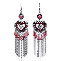 preiswerte Ohrringe-Damen Diamant Stilvoll Tropfen-Ohrringe - Luxus, Anhänger Stil, Anime Rot / Grün / Hellblau Für Formal Verabredung