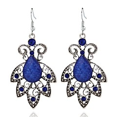preiswerte Ohrringe-Damen Lang Tropfen-Ohrringe - Harz Blattform Stilvoll, Klassisch Königsblau Für Alltag
