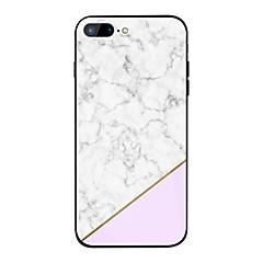 Недорогие Кейсы для iPhone 6-Кейс для Назначение Apple iPhone X / iPhone 8 Plus Зеркальная поверхность / С узором Кейс на заднюю панель Мрамор Твердый ТПУ / Закаленное стекло для iPhone X / iPhone 8 Pluss / iPhone 8