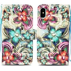 Недорогие Кейсы для iPhone 6 Plus-Кейс для Назначение Apple iPhone X / iPhone 8 Plus Кошелек / Бумажник для карт / со стендом Чехол Мандала Твердый Кожа PU для iPhone X / iPhone 8 Pluss / iPhone 8