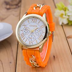 preiswerte Damenuhren-Damen Armbanduhr Chinesisch Armbanduhren für den Alltag Silikon Band Modisch Schwarz / Weiß / Blau
