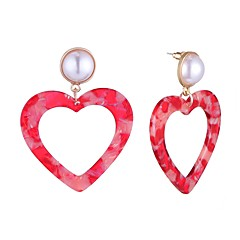 preiswerte Ohrringe-Damen Stilvoll Ohrstecker - Herz Stilvoll, Einfach Regenbogen / Rot / Blau Für Geschenk / Verabredung