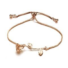 preiswerte Armbänder-Damen Einzelkette Ketten- & Glieder-Armbänder - Blume Süß Armbänder Gold / Silber / Rotgold Für Alltag