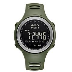 お買い得  メンズ腕時計-男性用 スポーツウォッチ デジタル 50 m 耐水 Bluetooth カレンダー ラバー バンド デジタル カジュアル ファッション ブラック / クローバー - ブラック グリーン 1年間 電池寿命 / LCD / ムーンフェイズ