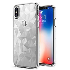 Недорогие Кейсы для iPhone 7-Кейс для Назначение Apple iPhone X / iPhone 8 Plus Ультратонкий / Прозрачный Кейс на заднюю панель Однотонный Мягкий ТПУ для iPhone X / iPhone 8 Pluss / iPhone 8