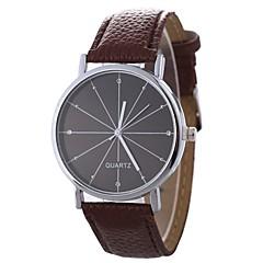 お買い得  メンズ腕時計-Xu™ 男性用 / 女性用 ドレスウォッチ / リストウォッチ 中国 クリエイティブ / カジュアルウォッチ / 大きめ文字盤 PU バンド カジュアル / ファッション ブラック / 白 / ブルー