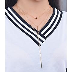 preiswerte Halsketten-Damen Anhängerketten / Statement Ketten / Anhänger - Personalisiert, Anhänger Stil, Modisch Gold Modische Halsketten Für Besondere Anlässe, Alltag, Normal / Layered Ketten