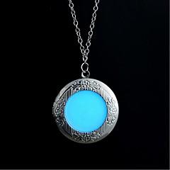 preiswerte Halsketten-Damen Leuchtender Stein Lang Anhängerketten - Kreativ Retro, Ethnisch, Modisch Blau 60 cm Modische Halsketten Schmuck 1pc Für Halloween, Klub