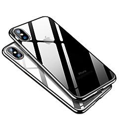 Недорогие Кейсы для iPhone X-Кейс для Назначение Apple iPhone X / iPhone 8 Покрытие Кейс на заднюю панель Однотонный Мягкий ТПУ для iPhone X / iPhone 8 Pluss / iPhone 8
