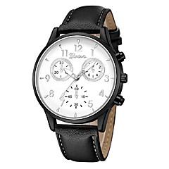 preiswerte Damenuhren-Geneva Damen Armbanduhr Quartz Neues Design Armbanduhren für den Alltag Cool Leder Band Analog Freizeit Modisch Schwarz / Blau / Braun - Schwarz / Weiß Rotgold Weiß / Braun Ein Jahr