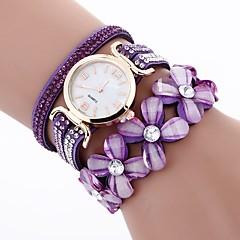 preiswerte Damenuhren-Damen Armband-Uhr Chinesisch Armbanduhren für den Alltag / Imitation Diamant PU Band Freizeit / Modisch Schwarz / Weiß / Blau