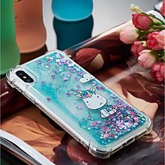 Недорогие Кейсы для iPhone 7 Plus-Кейс для Назначение Apple iPhone X / iPhone 8 Plus Защита от удара / Движущаяся жидкость / Прозрачный Кейс на заднюю панель единорогом Мягкий ТПУ для iPhone X / iPhone 8 Pluss / iPhone 8