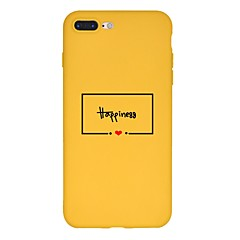 Недорогие Кейсы для iPhone 7 Plus-Кейс для Назначение Apple iPhone X / iPhone 8 Plus С узором Кейс на заднюю панель Слова / выражения Мягкий ТПУ для iPhone X / iPhone 8 Pluss / iPhone 8