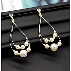 abordables Bijoux pour Femme-Femme Diamant synthétique Stylé Boucles d'oreille goutte - Tropical, Elégant Blanc Pour Mariage Soirée