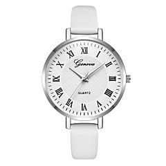 hesapli Kadın Saatleri-Geneva Kadın's Bilek Saati Quartz Yeni Dizayn Gündelik Saatler Havalı Deri Bant Analog Günlük Moda Siyah / Beyaz / Yeşil - Siyah Yeşil Pembe Bir yıl Pil Ömrü
