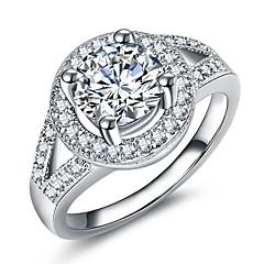 preiswerte Ringe-Damen Stilvoll Ring / Verlobungsring - Platiert, Diamantimitate Augen, Kugel Luxus, Romantisch, Modisch 5 / 6 / 7 Silber Für Party / Verlobung