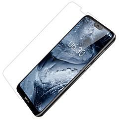 お買い得  Nokia 用スクリーンプロテクター-Nillkin スクリーンプロテクター のために Nokia Nokia X6 PET 1枚 フロント&カメラレンズプロテクター ハイディフィニション(HD) / 超薄型 / 傷防止