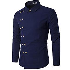 levne Pánské svršky-pánské košile - pevné barevné stojánky