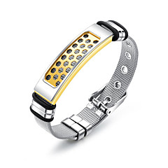 preiswerte Armbänder-Herrn Gliederkette Ketten- & Glieder-Armbänder Armreife ID Armband - Edelstahl Modisch, Beiläufig / sportlich Armbänder Gold Für Geschenk Alltag
