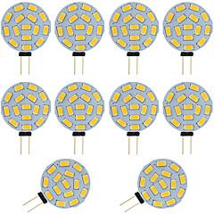 preiswerte LED-Birnen-10 Stück 2W 360lm G4 LED Doppel-Pin Leuchten T 15 LED-Perlen SMD 5730 Warmes Weiß Kühles Weiß 12-24V 12V