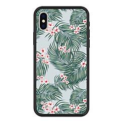 Недорогие Кейсы для iPhone X-Кейс для Назначение Apple iPhone X / iPhone 8 Plus С узором Кейс на заднюю панель Растения / Цветы Твердый Акрил для iPhone X / iPhone 8 Pluss / iPhone 8