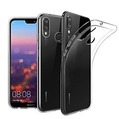 お買い得  Huawei Pシリーズケース/ カバー-ケース 用途 Huawei P20 Pro / P20 lite クリア バックカバー ソリッド ソフト TPU のために Huawei P20 / Huawei P20 Pro / Huawei P20 lite
