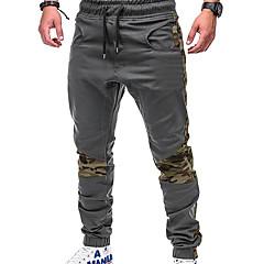 povoljno Muške hlače-Muškarci Osnovni / Ulični šik Veći konfekcijski brojevi Pamuk Slim Sportske hlače / Cargo hlače Hlače Jednobojni / Color block / Vikend