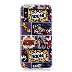 abordables Fundas para iPhone 6 Plus-Funda Para Apple iPhone X / iPhone 8 Plus Ultrafina / Diseños Funda Trasera Caricatura Suave TPU para iPhone X / iPhone 8 Plus / iPhone 8