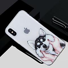 お買い得  iPhone 5S/SE ケース-ケース 用途 Apple iPhone X / iPhone 8 パターン バックカバー 犬 ソフト TPU のために iPhone X / iPhone 8 Plus / iPhone 8