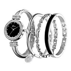 preiswerte Damenuhren-Damen Armband-Uhr Quartz Armbanduhren für den Alltag Legierung Band Analog Freizeit Silber / Rose - Silber Rotgold / Weiß Schwarz / Rotgold