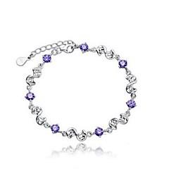 abordables Bijoux pour Femme-Femme Zircon cubique Stylé Bracelet - Donuts Elégant, Classique Bracelet Violet Pour Quotidien